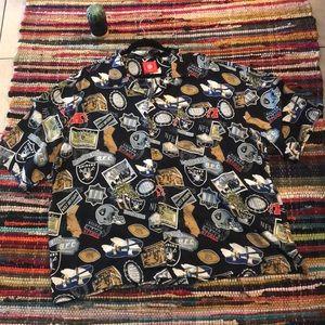 NFL Oakland Raiders Hawaiian style Button up shirt